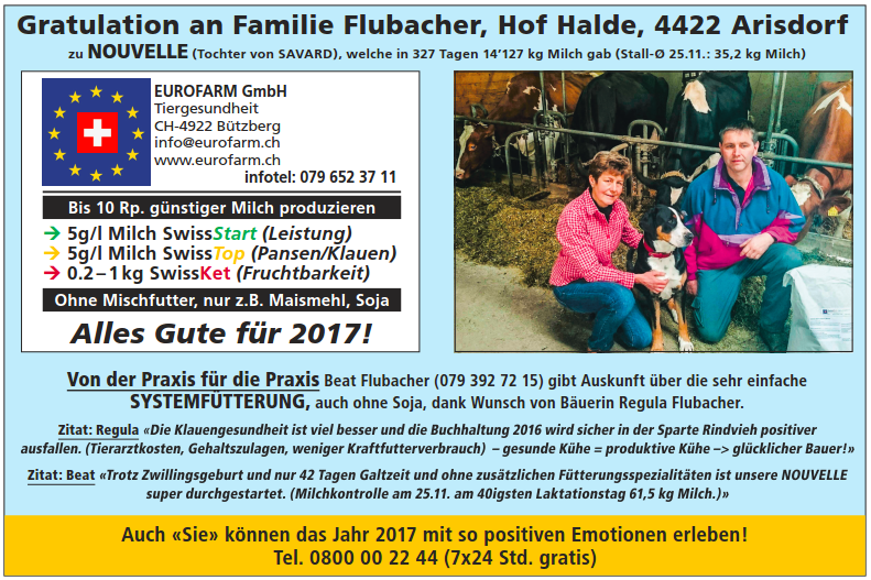 Gratulation Flubacher