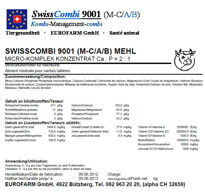 Eurofarm GmbH - Verkauf von Mineralfuttermittel